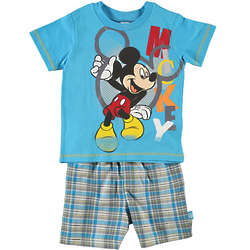 Toddler's Jumble Letter Mickey Mouse T-Shirt And Shorts