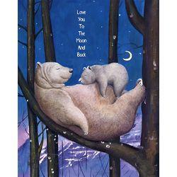 Sleeping Bears Personalized Art Print