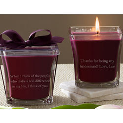 Personalized Mulberry Candle for Bridesmaid