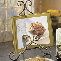 Flatware Metal Cookbook Holder