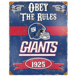 New York Giants Vintage Metal Sign