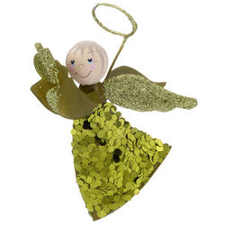 Flying Angel with Sparkles Christmas Ornament