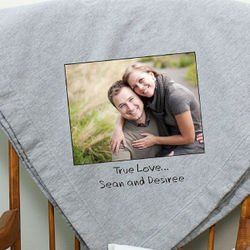 Custom Message Photo Fleece Blanket
