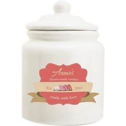 Made with Love Personalized Cookie Jar
