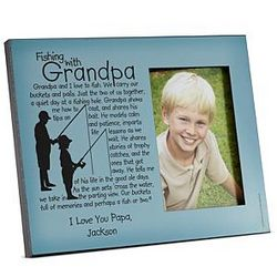 Fishing with Grandpa Picture Frame
