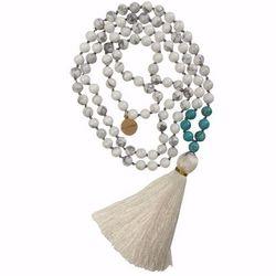 True Path Mala Beaded Tassel Necklace