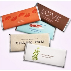Personalized Large Hershey's Chocolate Bar Wedding Favors