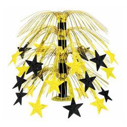 Cascading Black & Gold Stars Centerpiece