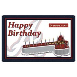 25 MLB Atlanta Braves Happy Birthday Gift Card