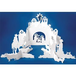 Ted Naos Paper Nativity Scene Christmas Card Findgift Com