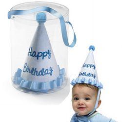 Prince Seersucker Birthday Hat
