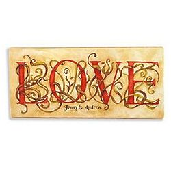 Personalized Love Language Canvas Print