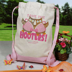 Save the Hooters Breast Cancer Awareness Backpack