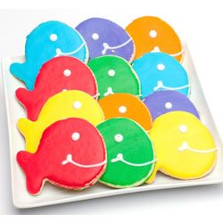 Fish Shaped Smiley Cookies
