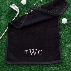 Personalized Raised Monogram Golf Towel
