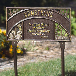 Personalized Aristotle Garden Plaque