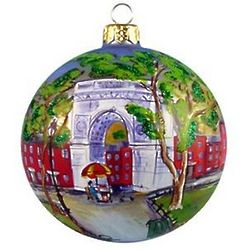 Washington Square Blown Glass Christmas Ornament
