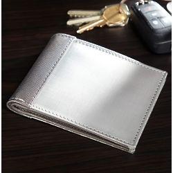 Silver Bi-Fold Stainless Steel Wallet