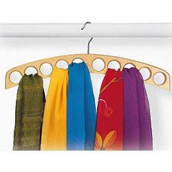 Wooden Scarf Organizer Hanger