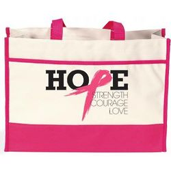 Strength, Courage, Love, Hope Canvas Tote Bag