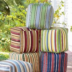 Colorful Outdoor Ottoman Cube
