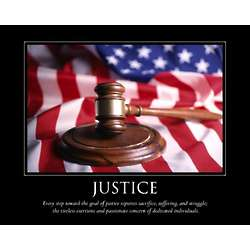 Justice Personalized Art Print