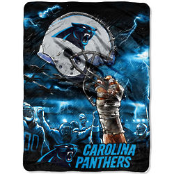 Sky Helmet Carolina Panthers Plush Raschel Blanket