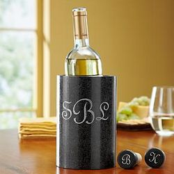 Black Marble Wine Chiller and Stoppers