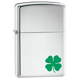 A Bit o' Luck High Polish Chrome Zippo Lighter