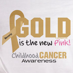 Gold Is the New Pink Childhood Cancer Awarness Sweatshirt