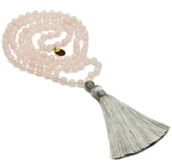 Love & Attraction Mala Rose Quartz Bead Necklace