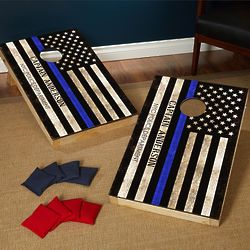 Courage and Honor Customized Police Flag Bean Bag Toss Game