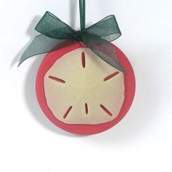 Sand Dollar Medallion Christmas Tree Ornament