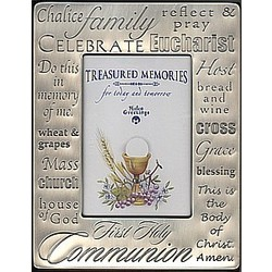Pewter First Communion Picture Frame