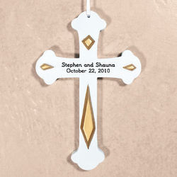 Engraved Wedding Wall Cross