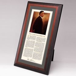 Vince Lombardi Framed Desktop Print