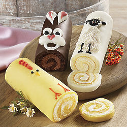 Easter Animals Cake Roll Trio