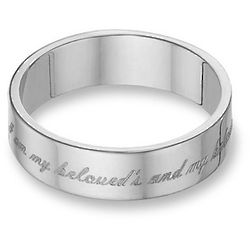 Sterling Silver I Am My Beloved's Wedding Ring