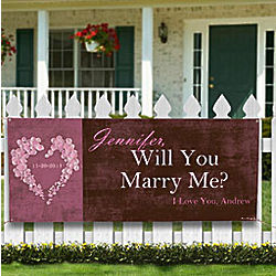 Personalized Will You Marry Me Banner - FindGift.com