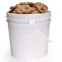 Oatmeal Raisin Cookies in a Bucket