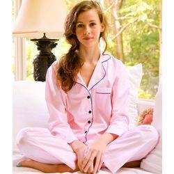 Women's Pink Stripe Pajama Set