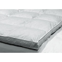 Full Double Layer Baffle Box Feather Bed