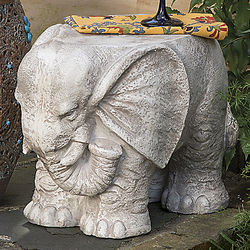 Cement Elephant Stool