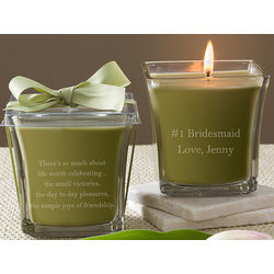 Personalized Papaya and Bamboo Scented Candle