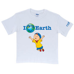 Caillou I Love Earth White T-Shirt