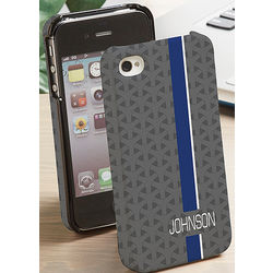 Personalized iPhone 4 Striped Cell Phone Case