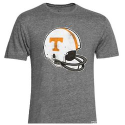 Tennessee Volunteers Big Retro Helmet Gray T-Shirt