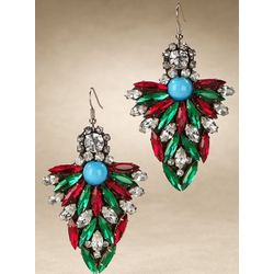 Bijoux Colorful Crystal Holiday Earrings