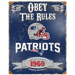 New England Patriots Vintage Metal Sign
