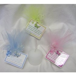 Great Personalized Votive Baby Shower Candle Favor